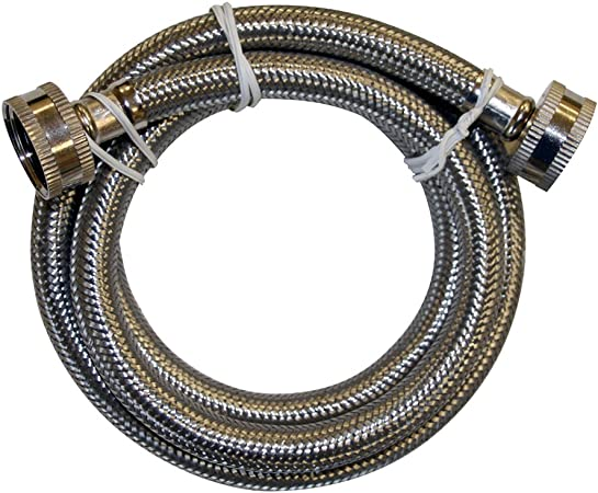 PlumBest S04227R1 3//4-Inch FHT by 3//4-Inch FHT by 48-Inch Stainless Steel Washing Machine Connection
