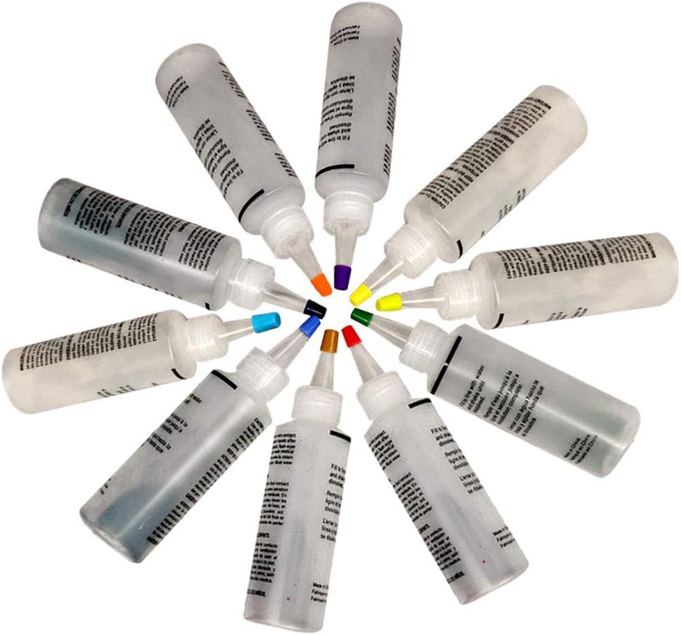 Kit de 10 colores de tinte de corbata de tela de pinturas textiles no tóxicas Kit de tinte de tie-dye vibrante tela textil pintura permanente colores ...