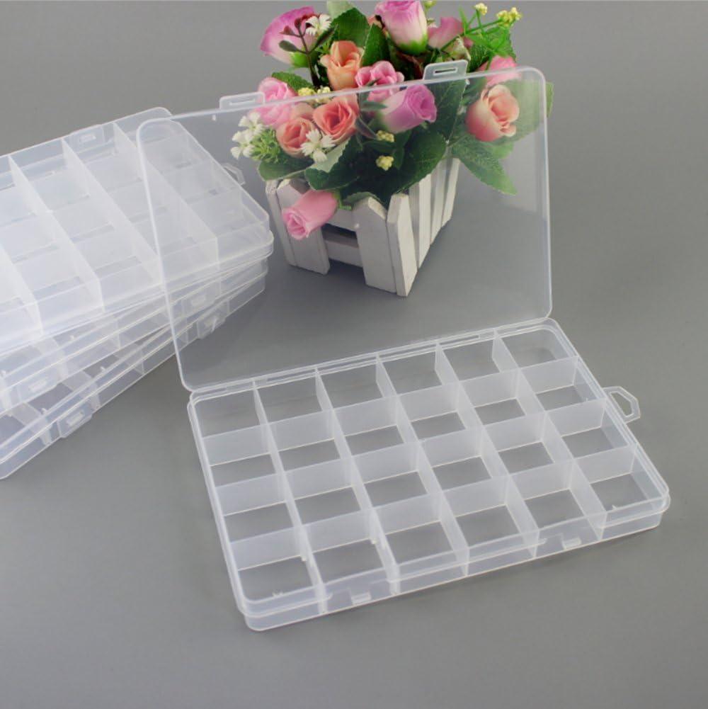 Westeng 1 scatola trasparente da 24 mini box per lorganizzazione dei gioielli con divisori rimovibili