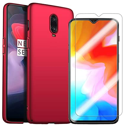 Oneplus 6t case with oneplus 6t Screen Protector, MYLB-US [2 in 1]  [Anti-Drop] Ultra-Thin PC Hard case Cover Mobile Phone case Back Cover for  oneplus