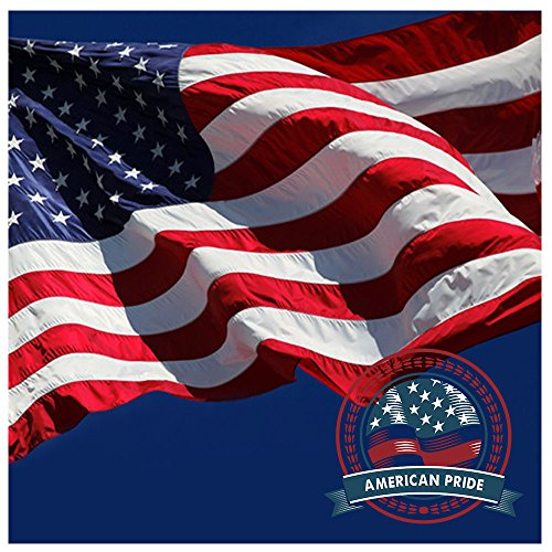 American Embroidered Stripes Grommets Flags Long product image