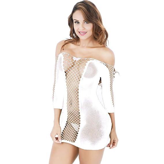 2365bc479454 JFan Lenceria Mujer Erotica Mini Vestido Sexy Crochet Ropa Interior Sexy  Conjuntos