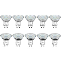 LE GU10 LED Light Bulbs, Warm White 2700K, 50W Halogen Bulb Equivalent, 4W 350lm, 120 Degree Beam Angle, Pack of 10