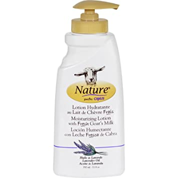 Nature By Canus Moisturizing Lotion - Fresh Goats Milk - Nature - Lavender Oil - 11.8