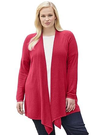 dd195c91f66 Jessica London Women s Plus Size Cashmere Blend Cardigan at Amazon Women s  Clothing store