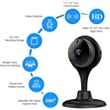 1080P HD Night Vision Camera,miSafes Wireless Wi-Fi 1080p HD Day/Night Camera for Baby Monitor Pets Cam Remote Home Guardian with 2-way Audio for IOS Android iPhone iPad Samsung HTC LG Sony Google Nexus Black