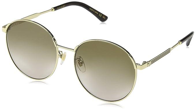 Gucci GG0206SK 003, Gafas de Sol para Mujer, Dorado (3/Brown ...
