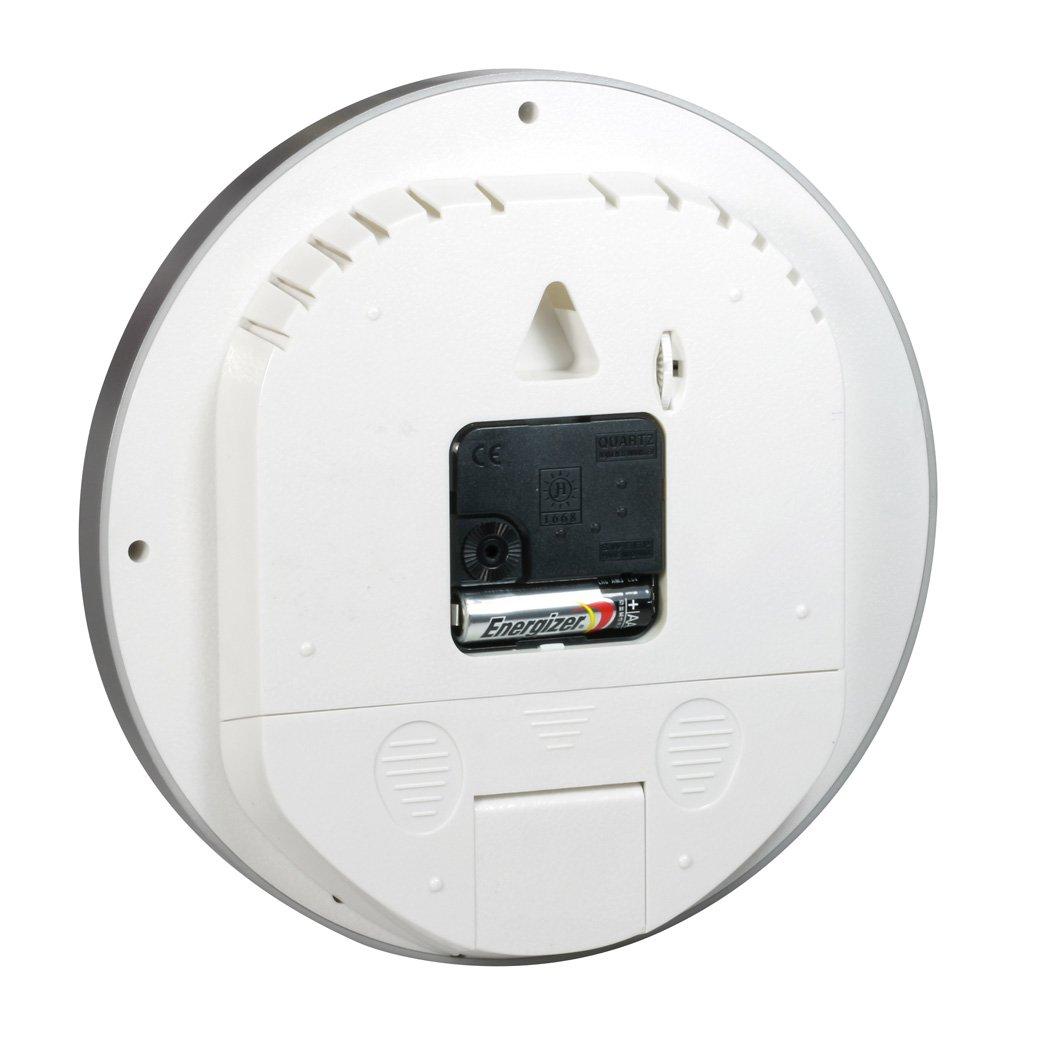Technaxx 4218 - Reloj de Pared con cámara y micrófono Integrado (batería Recargable por USB, Ranura para Tarjeta SD, indicador LED) Plata: Amazon.es: ...