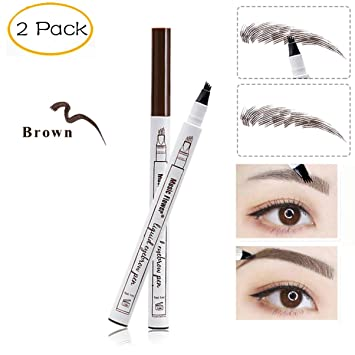 In Hot Sale Microblading Eyebrow Tattoo Pen Waterproof Eye Makeup 3 Colors Easy Use Eyebrow Pen Deep Color Pencil Eyebrow Novel Design;