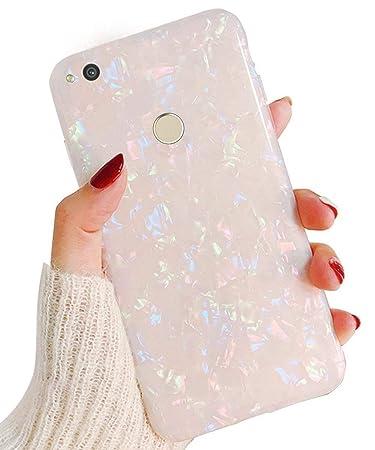 Surakey kompatibel mit Huawei P8 Lite 2017 Hülle Silikon Glänzend Bling Glitzer Schutzhülle 3D Geometrische Muster Ultra Dünn