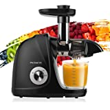 Juicer Machines, Picberm PB2110A Slow Masticating Juicer Extractor with Quiet Motor Easy to Clean, BPA-Free Anti-clogging Col