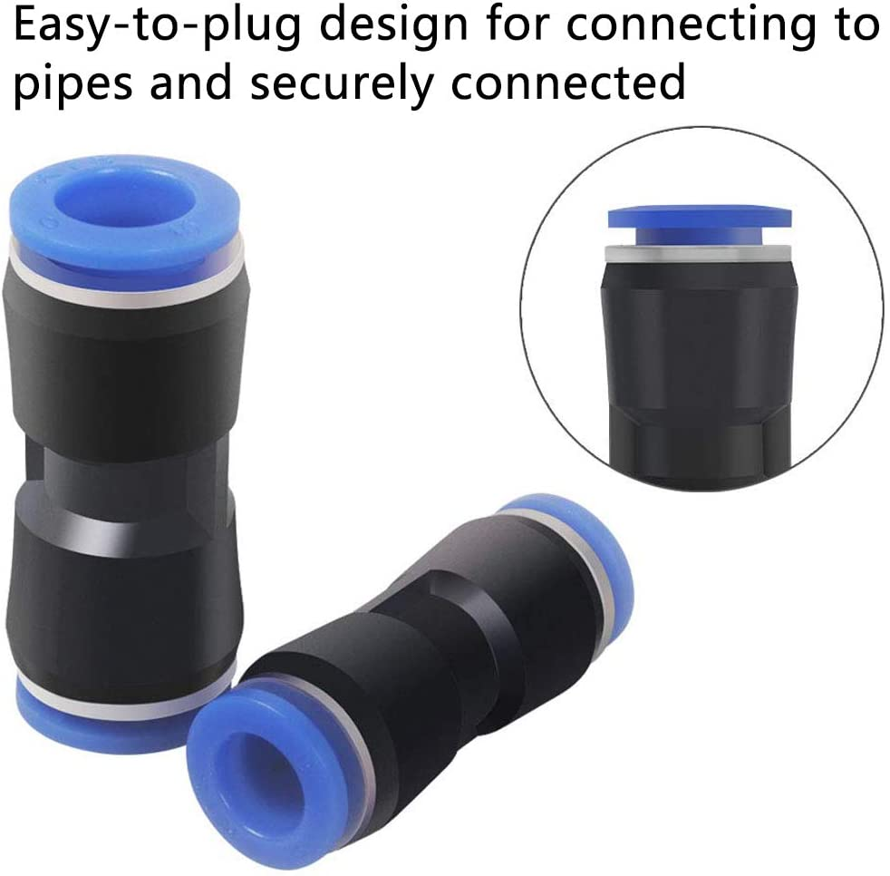 Pneumatic Connector,BETOY 30 Pieces Pneumatic Fittings Straight Quick Connector Air Push Pneumatic Fittings Straight Push in Plastic Pneumatic Fittings Quick Fittings Pneumatic Tools for 6//8//10mm