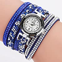 Womens Watch,Howstar Women Casual Analog Quartz Rhinestone Watch Bracelet Watches
