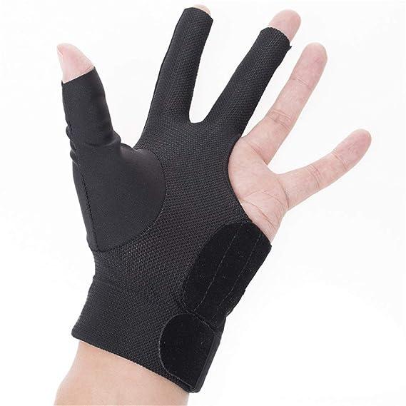 Vbestlife Men Women Billiards Gloves 3 Fingers Snooker Shooter Cue Pool Gloves Anti-Skid Elastic Glove Left Hand 1 Pc