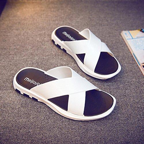 Casual Summer Shoes White OverDose Fashion Men's Flip Flat Hembre Sapatenis Clearance Sliders Beach Sapatos Slipper Flop Men Sale wTxOqPg7