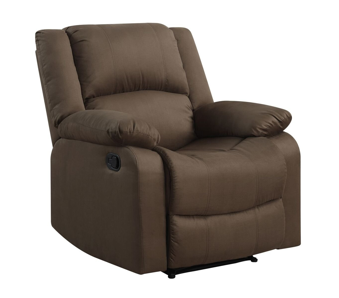 Pearington Lyon Microfiber Living Room Recliner Chair, Chocolate