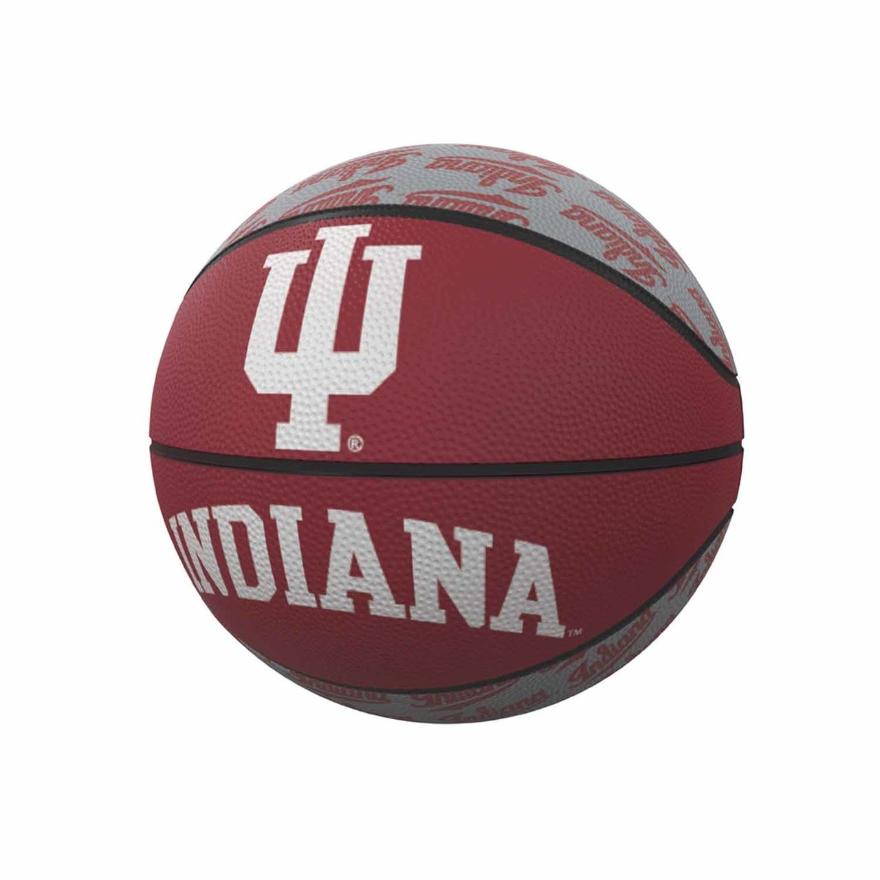 Red Miniature Logo Brands NCAA Indiana Hoosiers Rubber Basketball