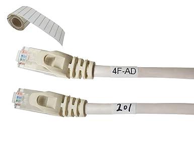 Mr-Label Vinilo Autolaminadas Adhesivo Imprimible Etiquetas para Cables - Impresora de transferencia térmica rollo