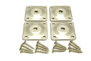Sofa Leg Plates   Set Of 4 Industrial Strength Galvanized Steel Sofa Leg  Attachment Plates With