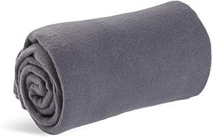 World's Best Cozy-Soft Microfleece Travel Blanket, 50 x 60 Inch, Charcoal
