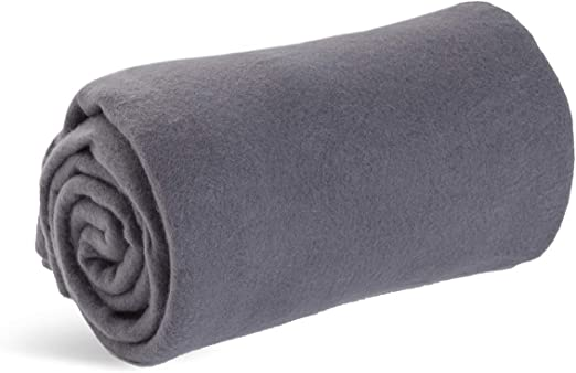 Worlds Best Cozy-Soft Microfleece Travel Blanket, 50 x 60 Inch, Charcoal, Great for Travel or Lounging at Home