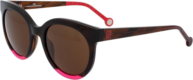 Carolina Herrera Gafas de Sol Mujer SHE7455106YH (Diametro 51 mm), Brown, 51 Unisex-Adult: Amazon.es: Ropa y accesorios