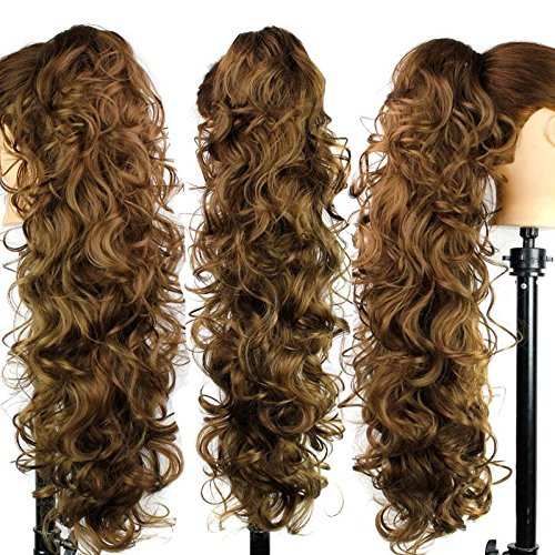 Claw clips hair of European and American fashion Lady Tiger punctatus punctatus fiber high temperature wire tail , (Buy Mullet Wig)