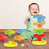 Educational Ball Drop Toy for Kids - Spinning Swirl Ball Ramp 2 sets Activity Toy for Toddlers and Babies safe for 9 months and up.
