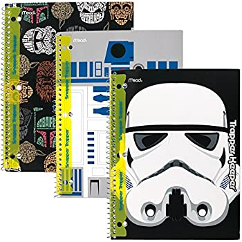 Star Wars Trapper Keeper Notebooks with Snapper Trapper by Mead, 1 Subject, Wide Ruled, 3 Pack (73499)