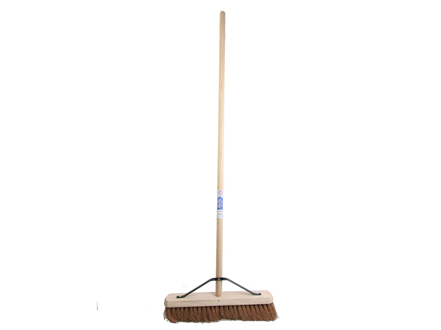 Faithfull 18-inch Soft Coco Broom with Handle and Stay