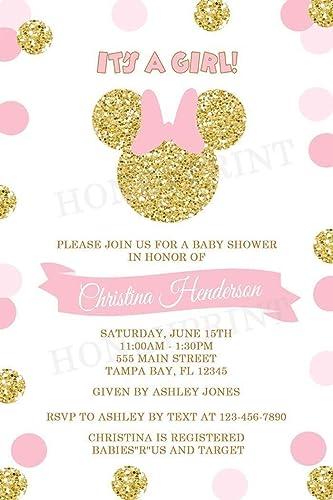 Amazon minnie mouse baby shower invitations printed minnie mouse baby shower invitations printed invitations filmwisefo