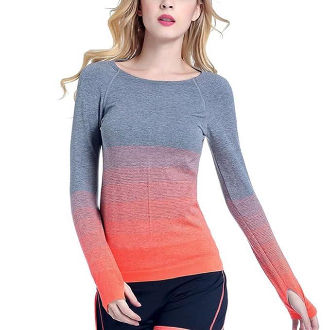 Handfly Mujeres Gym Camisa Deportiva Yoga Top Fitness Correr ...