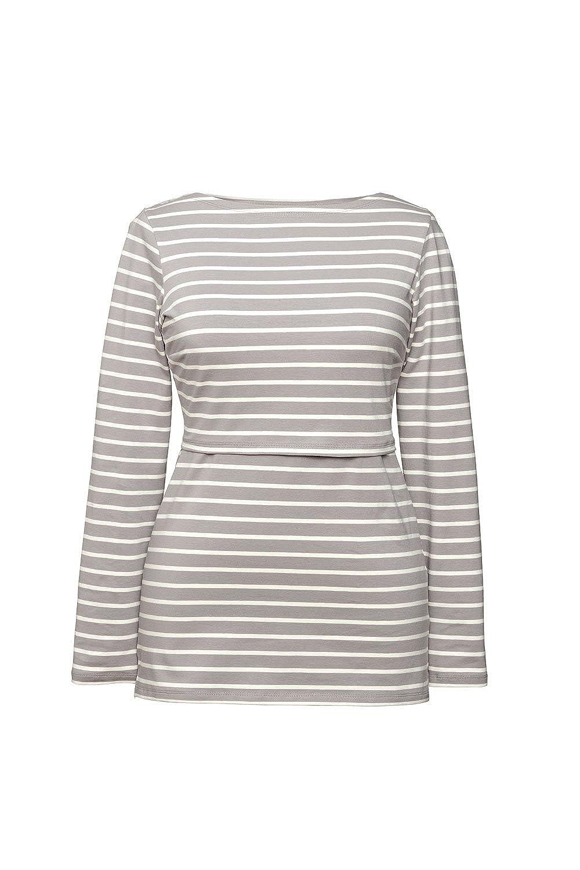 BOOB DESIGN Boob - Stillshirt Umstandsshirt 0205 gestreift aus Biobaumwolle