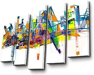 طقم لوحة قماش 5 قطع للزينة 5PATK-202 - وسائط متعددة