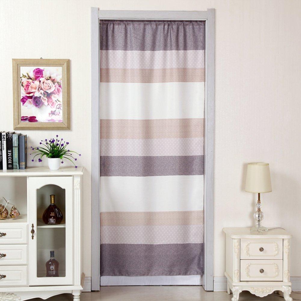 Door curtain/fabric curtain/four seasons curtain/kitchen curtain/bedroom wind curtain/garden half curtain/bathroom curtain-H 100x200cm(39x79inch)