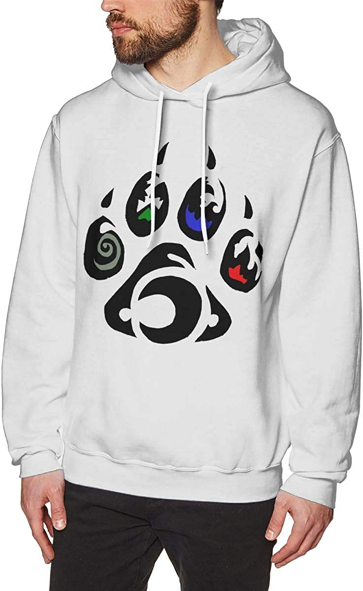 Element Wolf Tribal Mens Pullover Hooded Sweatshirt Cozy Sport Outwear