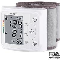 Blutdruckmessgerät Handgelenk Hylogy Vollautomatische professionelle Blutdruk-und Pulsmessung 2*120 Speicherplätze, LCD großem Display und Tagbare Aufbewahrungsbox