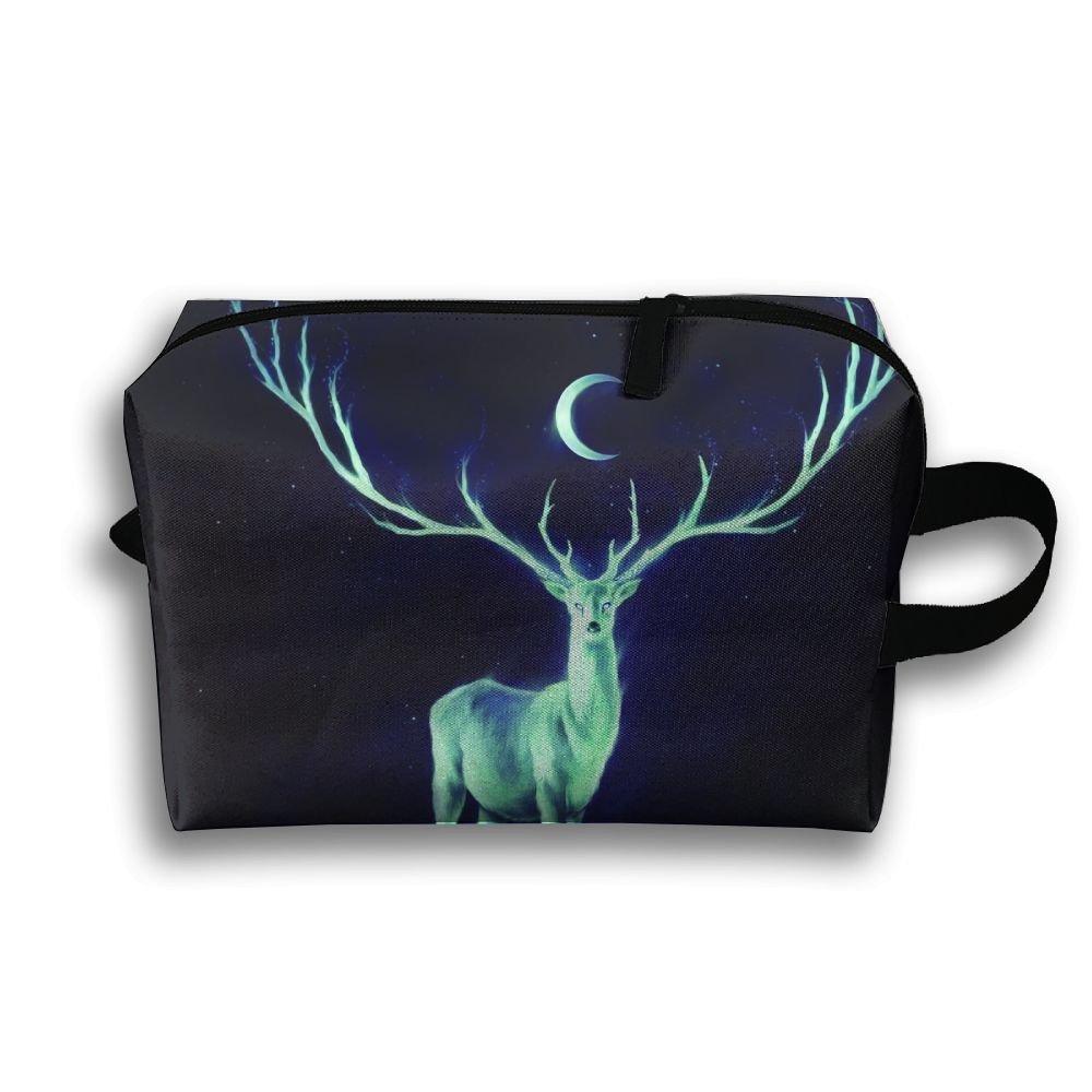 ec0e86d871 Luminous Horn Deer Small Travel Toiletry Bag Super Light Toiletry Organizer  For Overnight Trip Bag durable