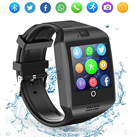 LAHYXAL Smart Watch Bluetooth Smartwatch Touchscreen Smart Wrist Watch Fitness Tracker with Camera SIM SD Card Slot Pedometer Compatible iPhone iOS ...