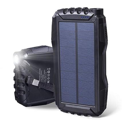 Solar Cargador,Baterìa Panels Uso Outdoor,25000Mah con 2 USB ...