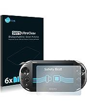 Savvies Pellicola Protettiva Compatibile con Sony PCH-2000-Serie Playstation PS Vita Slim Touchpad Protezione Schermo [6 Pezzi]