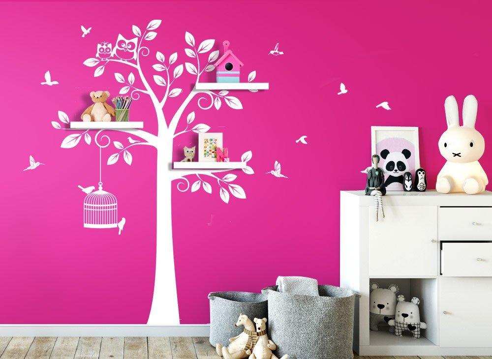 Wandaro Wandtattoo Baum Vögel Vögel Vögel I weiß (BXH) 108 x 160 cm I Kinderzimmer Aufkleber selbstklebend Wandaufkleber Wandsticker Sticker Wandtatoo W3281 B01H7A6842 Wandtattoos & Wandbilder 766e76