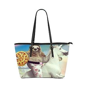 JIUDUIDODO Custom Otter PU leather Handbags Tote Bag Casual Bags Shopping Bags Shoulder Bags Lady (Large)