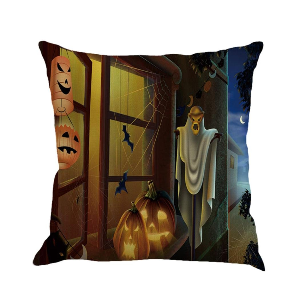 Gotd Vintage Halloween Pillow Covers Decorative Throw Pillow Case Cushion Pumpkin Happy Halloween Decorations Decor Clearance Indoor Outdoor Festive Party Supplies (Multicolor A) by Goodtrade8 (Image #2)