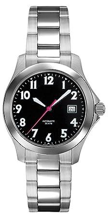 amazon com belair swiss made automatic 20 atm men s black dial belair swiss made automatic 20 atm men s black dial watch