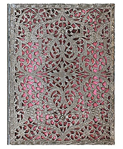 Paperblanks Silver Filigree Blush Pink Notebook Lined Pages Writing Journal Blank Sketch Book (Silver Filigree Collection)