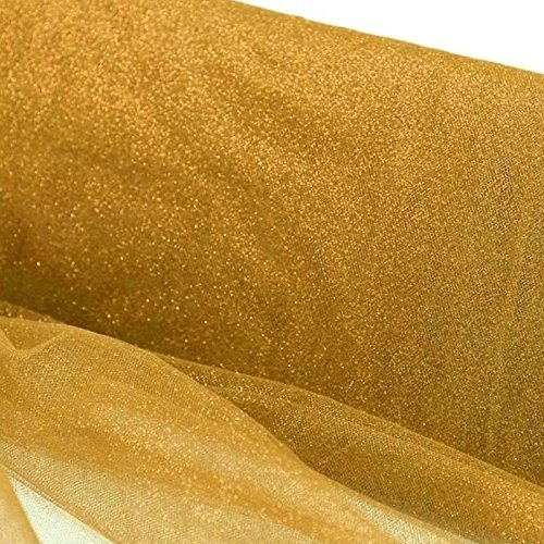 Efavormart 54 x 15yards Wedding Party Decorative PRINCESS Glitters Tulle For Wedding Party Event Decoration - - Gold