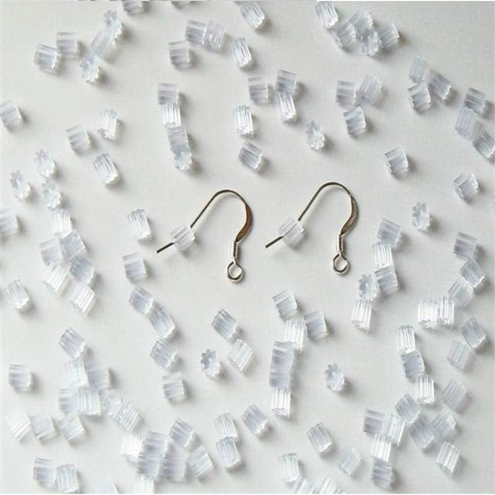 Clear Secure Earring Clutch for Fishing Hook Post Earrings 1000PCS Earring Backs,Hypo-allergenic Earring Stoppers