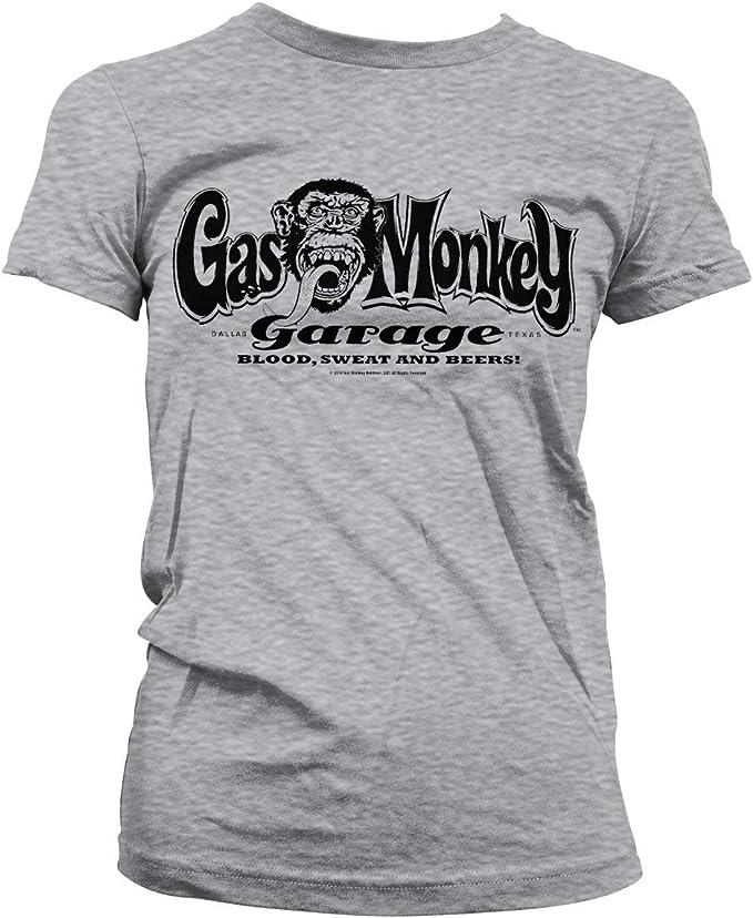 Officially Licensed Gas Monkey Garage Skull Women/'s T-Shirt S-XXL Sizes