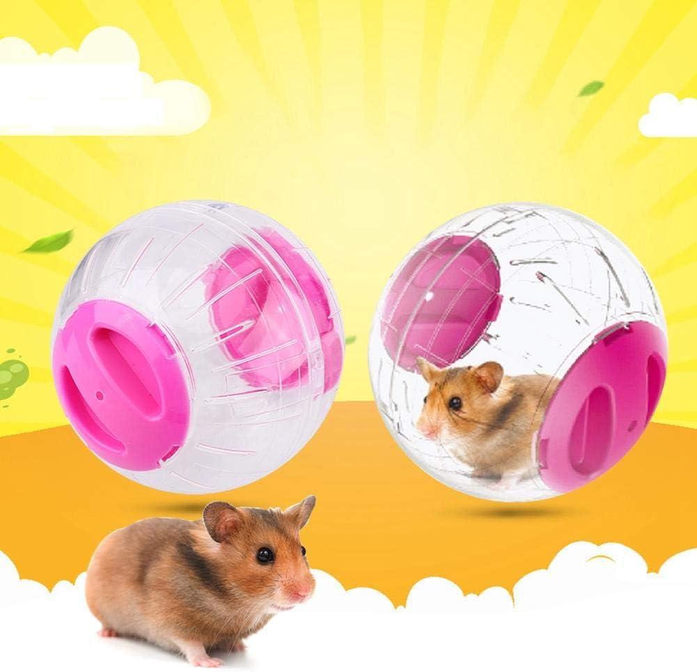 blue 12cm Silent Hamster Exercise Wheel Mini Jogging Running Ball Acrylic Outer Ring Aerodynamic Design Treadmill Wheel for Gerbils Chinchillas Guinea Pigs Small Animals